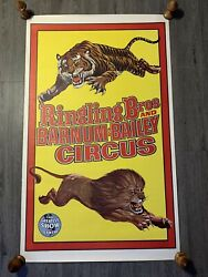 Ringling Bros And Barnum And Bailey Circus Poster 1950's American Vintage Original