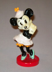 Great Old Vtg Ca 1950s Minnie Mouse 1958 Timex Watch Plastic Figure Very Nice