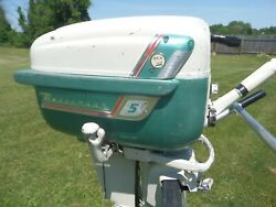 1958 Gale Buccaneer 5d15b 5hp Twin Cylinder All Original Outboard Boat Motor