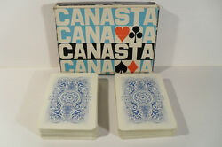 Vintage Rare Nos Czechoslovakia Two Set Playing Cards 52+2 Jokers Canasta