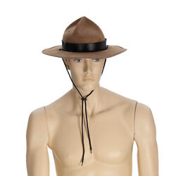 Brown Mountie Hat Costume Canada Police Canadian Royal Mounted Horse $14.81