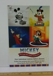 Mickey Through The Years Sericels Postcard Disney Gallery 1990s