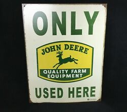 Vintage John Deere Only Used Here Farm Equipment Tractor Decor Sign Reproduction