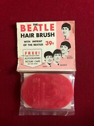 1964 Beatles Un-opened Beatle Hair Brush .39 Cent Scarce Version Red