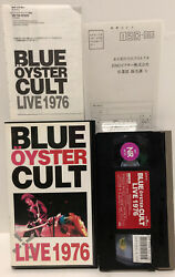 Vhs Blue Oyster Cult Live 1976  Clamshell Case Japanese Import Ntsc Rare Htf