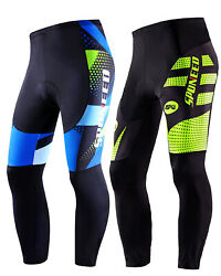 Men Cycling Pants Padded Mountain Road Bike Trousers Stretchy Cyclist Bottoms