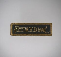 Fleetwood Mac Patch Gold and Black Logo iron on Rumours Dreams Stevie Nicks $5.00