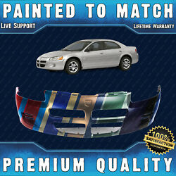 New Painted To Match Front Bumper Cover Fascia For 2001-2003 Dodge Stratus Sedan