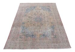 Classy 116 X 187 In Handmade Rug 10x16 Neutral Antiqued Stylized Patterns Rug