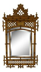 31868ec Maitland Smith Chinese Chippendale Style Beveled Mirror New