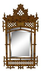 31867ec Maitland Smith Chinese Chippendale Style Beveled Mirror New