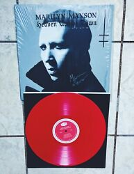 Marilyn Manson SIGNED Heaven Upside Down Limited Red Vinyl 2017 LP Autograph
