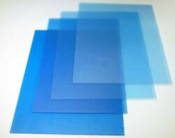 Lot 100 New Petg Sheets Clear .020 X 48 X 96 Blue Poly Lined Shield Sheet