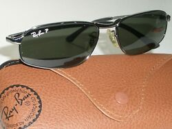 RAY BAN RB3168 56 16 GUNMETAL DOWNTOWN POLARIZED CRYSTAL LENS FLEX SUNGLASSES $267.99