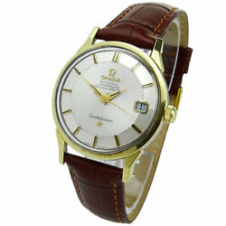Omega Vintage Constellation And039pie-panand039 Gold Cap Automatic Wristwatch Circa 1962