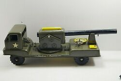 Nylint 1960and039s Electronic Cannon Army Military Truck Pressed Steel Vintage