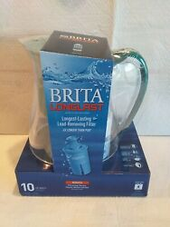 NEW Brita Monterey Water Filter Pitcher w 1 Longlast Filter Pine Green 10 Cup
