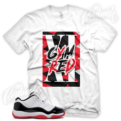 White Gym Red Xi T Shirt For Jordan 11 Low Gym Red Bred Concord Chicago Xi 1 3