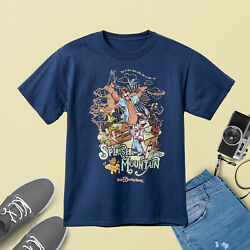 Gildan Splash Mountain Navy T-Shirt Gift For Adult Unisex 100% Cotton Size S-5XL $10.95