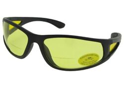 Wrap Around Non Polarized Yellow Lens Bifocal Sunglasses Style B131 $16.25