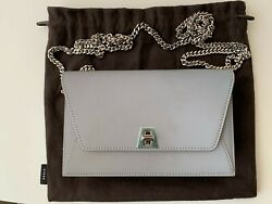 Akris Mini Anouk Envelope Cross body Silver Bag. New. $700  $270.00
