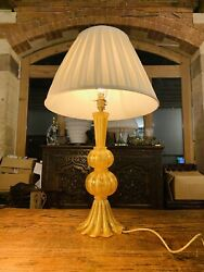 Murano Aventurine Table Lamp By Andlsquobarovier And Tosoandrsquo Vintage Gold