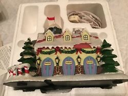 Hawthorne Village-rudolph's Christmas Town-reindeer Barn And Weather Watch Tower