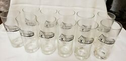 1885 Moormanand039s Barn Glasses Vintage Advertising Set Of 11