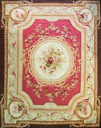 Antique French Aubusson Carpet 12'2