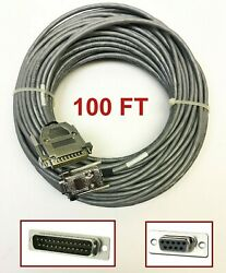 Helix/hitemp 100and039 Foot Grey Db9 Female To Db25 Male Cable