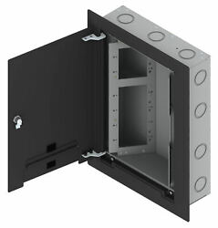 Fsr Wb-x3-gng-b - Wall Box W/ Three 2-gang, One 4-gang Openings And Knock-outs Bl