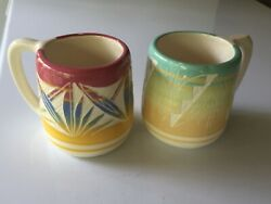 Two Signed Ute Mountain Tribe Art Coffee/tea Cups/mugs Native American Pottery
