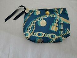 ESTEE LAUDER NEW COSMETIC BAG WITH SHELL CHARM BRACELET THEMED FREE SHIPPING $10.00