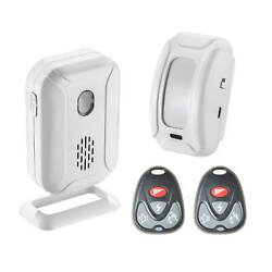 Wireless Motion Sensor Detector Doorbell Welcome Chime Alarm W/ 2 Remote Control