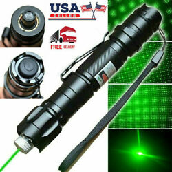 900 Miles 532nm Green Laser Pen Pointer Visible Beam Light 18650 Lazer Star Cap $9.49