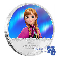 2016 2 Disney Frozen Magic Of The Northern Lights Anna 1oz Silver Proof Coin