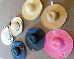 R Women#x27;s Floppy Sun Beach Straw Hats Wide Brim Packable Summer NEW Free Shippin $8.99
