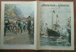 1903 Domenica Corriere Visit Of King Italy In London Racing Running Club Milano