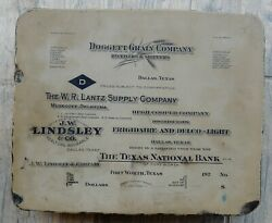 1936 Dallas - Ft. Worth Texas 17-pound Slab Advertising Local Businesses 10x8x2