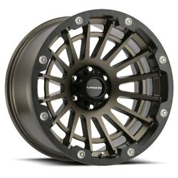 20x10 Vision 417 Creep 5x139.7 Et-25 Satin Bronze Wheels Set Of 4