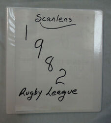 Aa9. 1982 Set Of 180 Scanlens Rugby League Cards