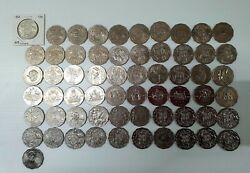 1966 To 2017 50 Cent Collection 61 Different Coins Complete Set