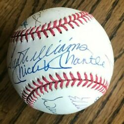 500 Homerun Signed 12 Signatures American League Bobby Brown Baseball With Case