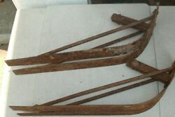 Vintage Farm Snow Sled All Steel Riveted Frame Two Front Runners + Diagram