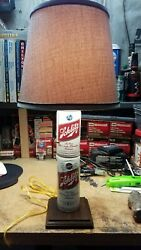 Hand Made Schlitz Brand Beer Can Pull Chain Lamp Or Light With Shade