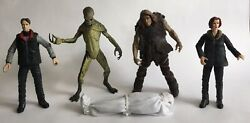 Mcfarland Toys X-files Mulder, Scully, Primitive Man, Alien And Body Lot 1998