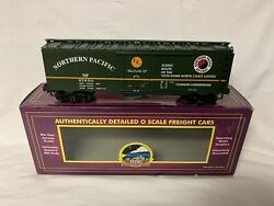 ✅mth Premier Northern Pacific 40' Steel Side Reefer Car 20-94059 O Scale Train