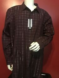 Nwt Perry Ellis Big And Tall Vacation Business Dress Casual Button Down Shirt