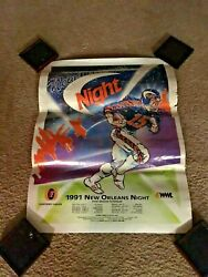 Vintage Rare 1991 New Orleans Night Arena Football League Afl Schedule Poster