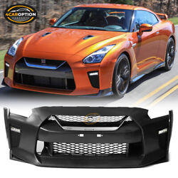 Fits 09-22 Nissan R35 Gtr Upgrade 09-16 To 17+ Front Bumper Cover Replacement